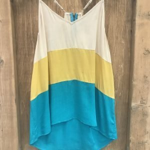 Yellow & Jade Zipper Cami