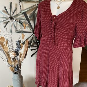 Kori Wineberry Midi Dress