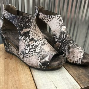 Snakeskin Wedge