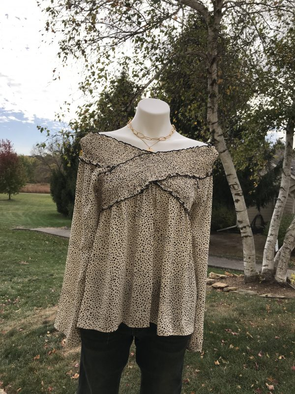 Leopard Cross Top