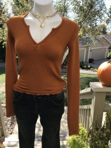 Pumpkin Spice Thermal Top