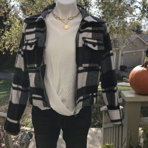 Black & White Checker Jacket