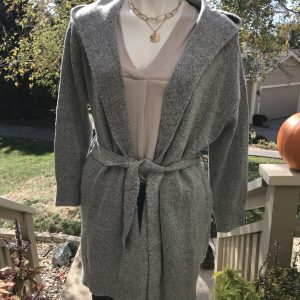 Long Grey Cardi with belt