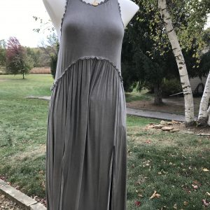 POL Grey Baby Doll Dress