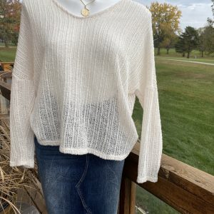 Ivory Peak A Boo 3/4 Length Sweater