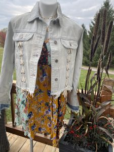 Hidden Faded Blue Laced Up Jacket