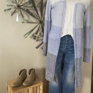 Blue Row Long Cardi