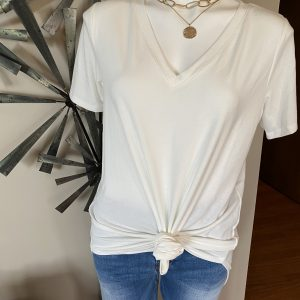 Zenana Ivory Short Sleeve Tshirt