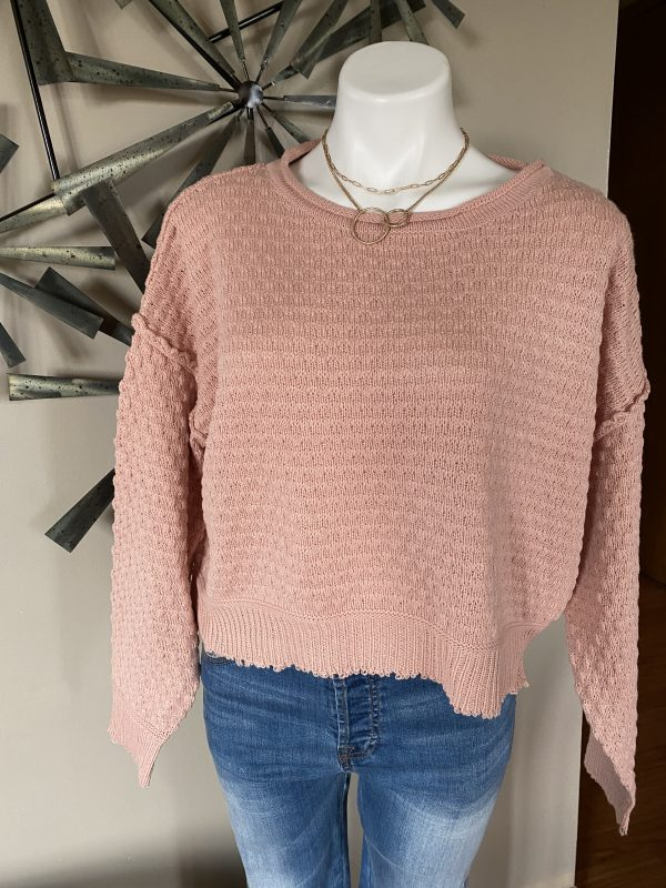 Misty Rose Knit Sweater