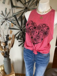 Floral Heart Tank