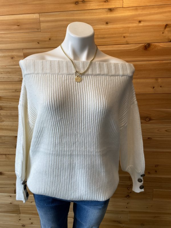 Mazik Off Shoulder Puff Sleeve Sweater