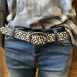 White Leopard Belt