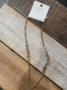 Gold Metal Pendant Necklace
